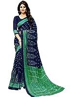 Glory Sarees Women's Cotton Silk Saree With Blouse Piece (Gloryart7 _Blue And Green)
