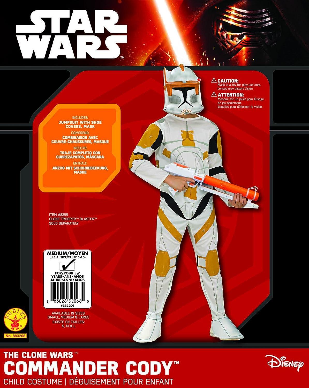 922d42a259cdf Rubies Costume Star Wars Clone Wars Clone Trooper Child's Commander Cody  Costume, Large