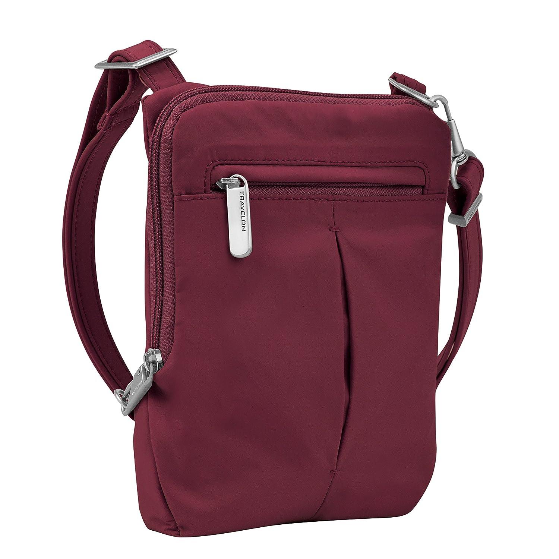 Travelon Anti-Theft Classic Light Mini Crossbody Messenger Bag, Mocha 43119 780
