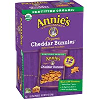 Annie's Organic Cheddar Bunnies Baked Snack Crackers, 12 ct, 12 oz