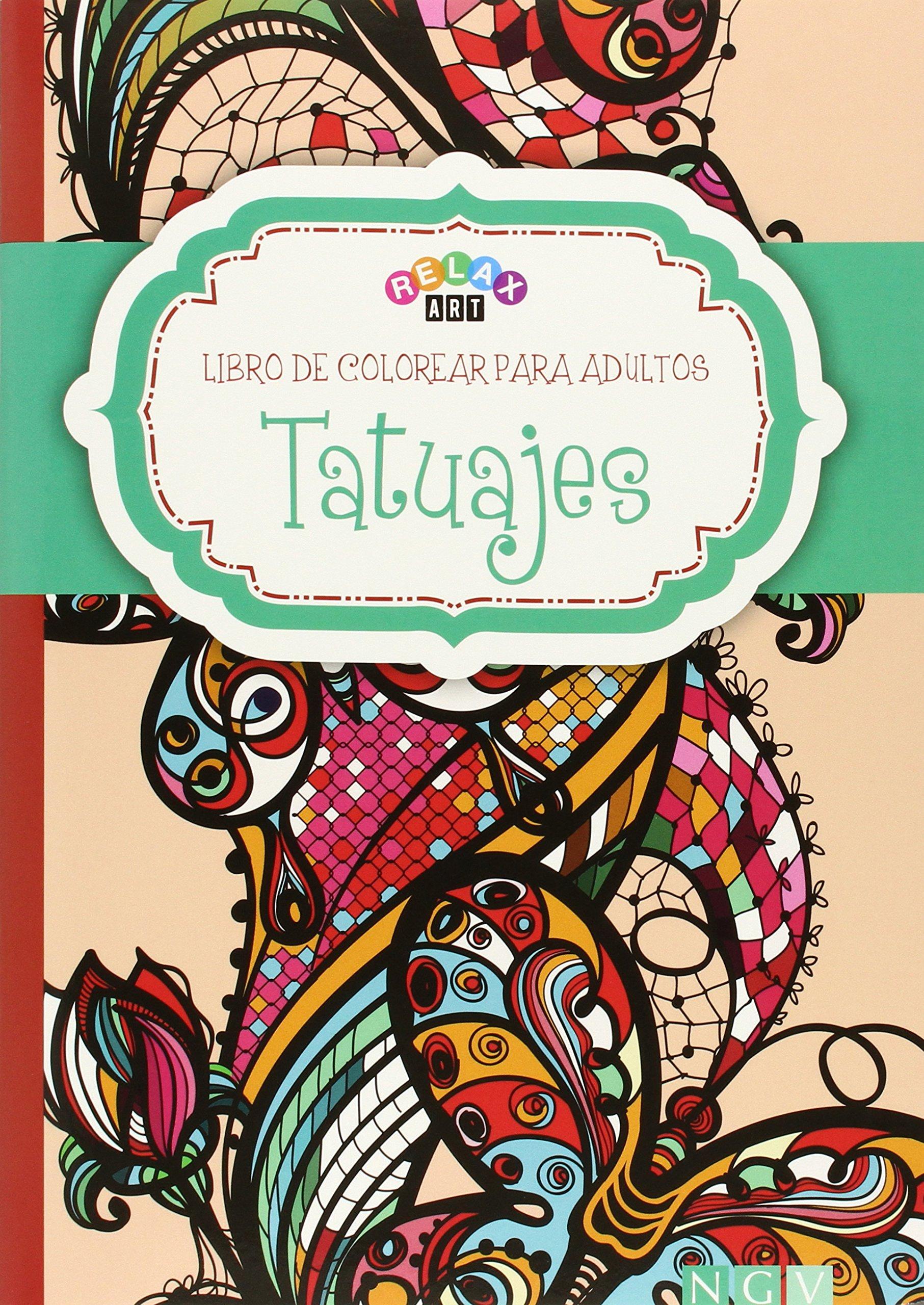 Tatuajes: Libro de colorear para adultos: VV.AA.: 9783869416724