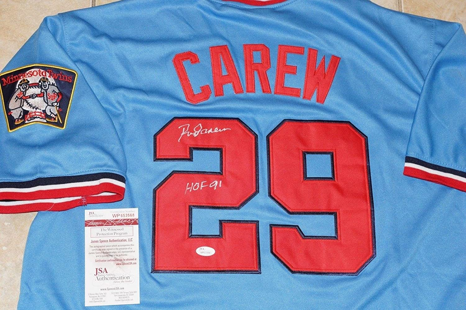 f3718ace1 Amazon.com  Signed Rod Carew Jersey -