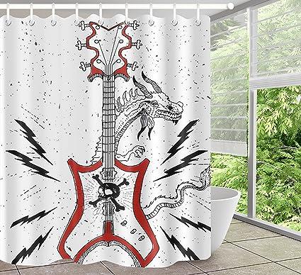 95 Guitar Shower Curtain Acoustic Guitar Shower Curtain Wjy425y5
