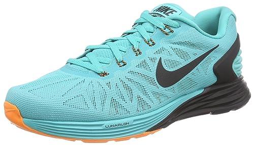 318b14f45cbd41 Nike Lunarglide 6 Men s Running Sneaker Lt Retro   Bright Crimson   Black  10 D(