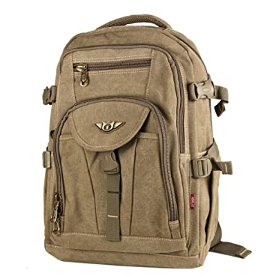 Aerlis Canvas Backpack for Sport Camping Travel School
