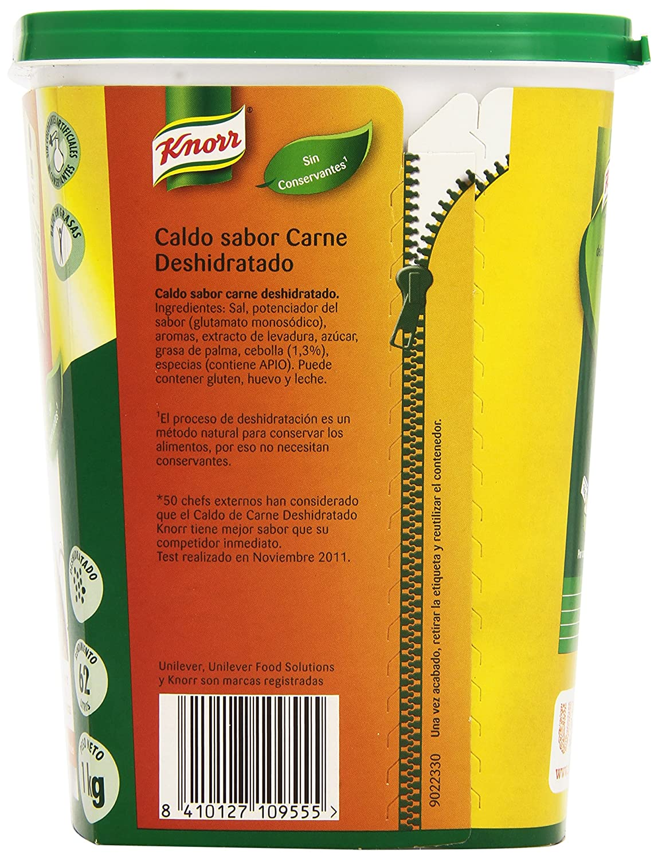 Knorr - Caldo sabor carne - Deshidratado - 1 kg: Amazon.es: Alimentación y bebidas