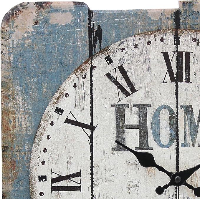 Amazon.com: Stonebriar - Reloj de pared cuadrado de 15 ...