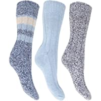 Floso- Calcetines térmicos gruesos con lana (pack de 3) para mujer