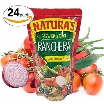 Salsa Ranchera - Naturas Salsita Lista De Tomate Con Vegetales Frescos | 100% Plant Based