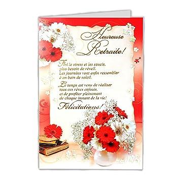 afie 35 - 763 tarjeta despedida Feliz jubilación - flores ...