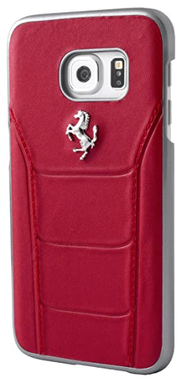 ae4e81457 Image Unavailable. Image not available for. Color: Ferrari 488 Hard Case  Leather for Galaxy S7 ...