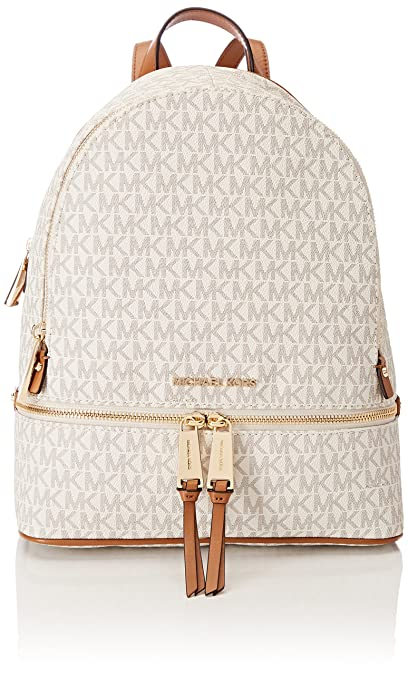 Michael Kors Rhea Zip - Vanilla Signature  Michael Kors  Amazon.in ... b8d2bd5ebb8