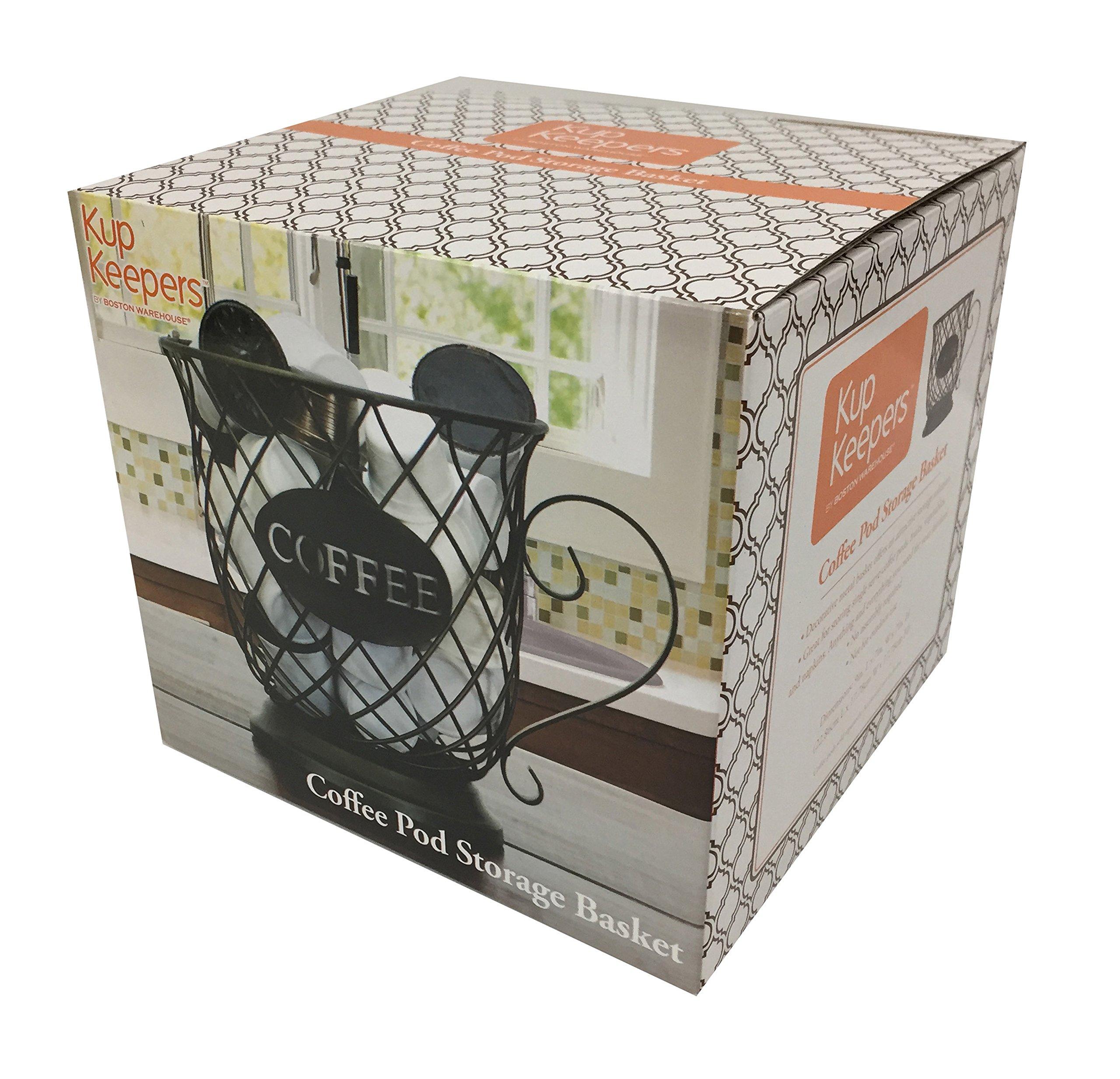 Kup Keeper Coffee & Espresso Pod Holder, Coffee Mug Storage Basket by Boston Warehouse by Boston Warehouse (Image #6)