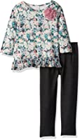 Marmellata Little Girls' Long Sleeve Tunic and Legging Outfit Set