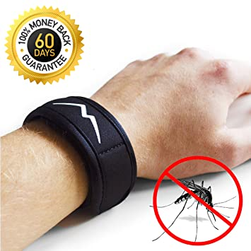 Natural Mosquito Repellent Bracelet By Maky Outdoors. No DEET. Best Outdoor  Repellent Wristband.
