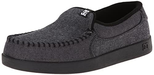 DC Shoes Villain TX - Mocasines de Lona para Hombre Gris XSSK-Grey/Grey/Black, Color, Talla 38,5: Amazon.es: Zapatos y complementos