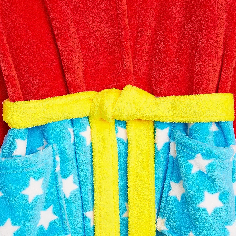 Idea Regalo Originale Vestaglie in Morbido Pile con Cappuccio Caldo Abbigliamento Invernale Wonderwoman DC Comics Wonder Woman Vestaglia Donna S-XL