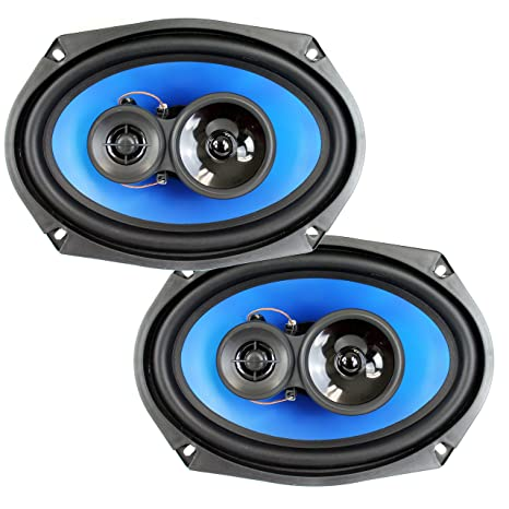 "2) Q Power 6x9"" 700 Watt 3-Way Car Audio Stereo Coaxial Speakers"