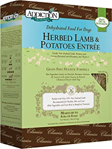 Addiction Grain Free Taurine Enriched Dehydrated Dog Food Made in New Zealand
