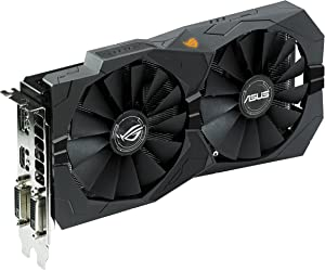 ASUS ROG Strix Radeon Rx 470 4GB OC Edition AMD Graphics Card with DP 1.4 HDMI 2.0 (STRIX-RX470-O4G-GAMING)