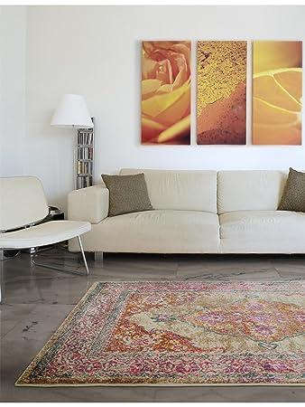 benuta teppich vero kunstfaser pink 160 x 230 0 x 2 cm amazon de