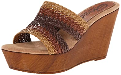 c3c1a09329de Sbicca Women s Cayucos Brown Cream 7 ...