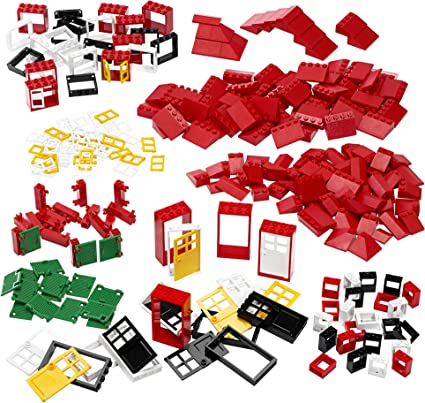 Lego 5 New Red Doors 1 x 3 x 1 Left ONLY Pieces Parts