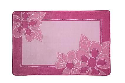 Amazon kids area rug girls flowers childrens room carpet in kids area rug girls flowers childrens room carpet in pink with floral accents mightylinksfo
