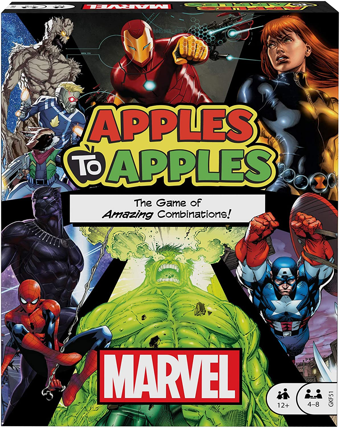 Apples to Apples: Marvel Edition Board Game of Amazing Combinations for 4 to 8 Players Ages 12 Years & Older, Gift for Kid, Adult or Family Game Night