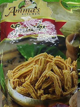 Amazon.com: Amma\'s Kitchen Snacks Onion Murukku Sticks 200 grams
