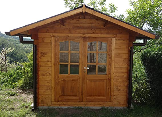 Casita de madera de jardín dekalux 2, 5 x 2: Amazon.es: Jardín
