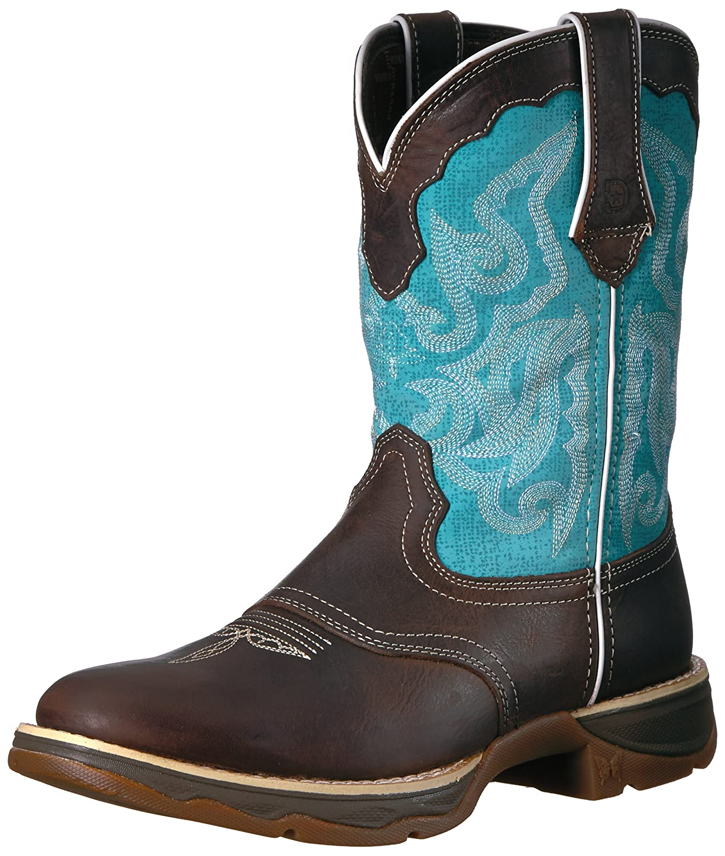 Durango Women's DRD0193 Western Boot B01NAVMYAO 6.5 B(M) US|Brown/Turquoise