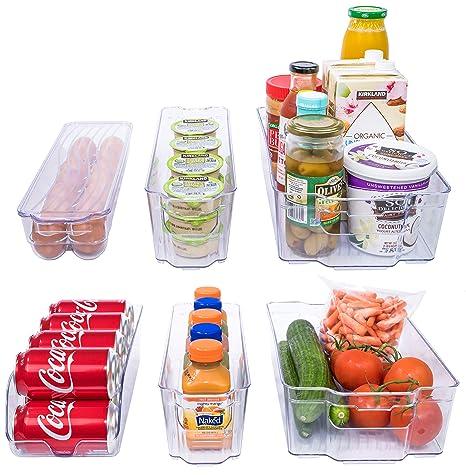 Adorn casa 6 piezas Organizador de frigorífico/congelador bandejas ...