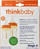 Thinkbaby 2 Pack BPA Free Vented Baby Bottles, 5 Ounce, Natural/Orange