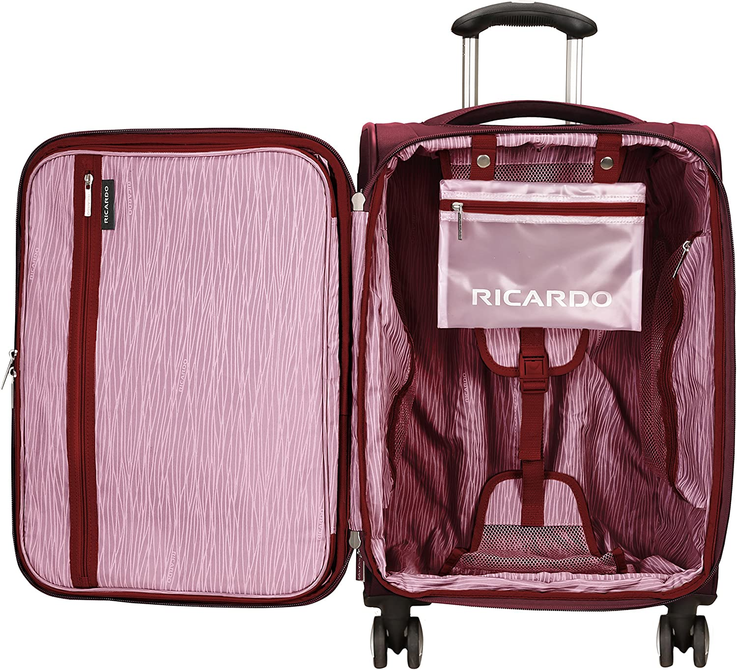 Wine Ricardo Beverly Hills Mar Vista 2.0 21-Inch Spinner Carry On Luggage