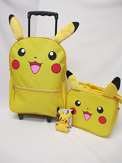 76186163b48 Image Unavailable. Image not available for. Color  Pokemon Large 16 quot  Rolling  Backpack Roller Book Bag, Lunch ...