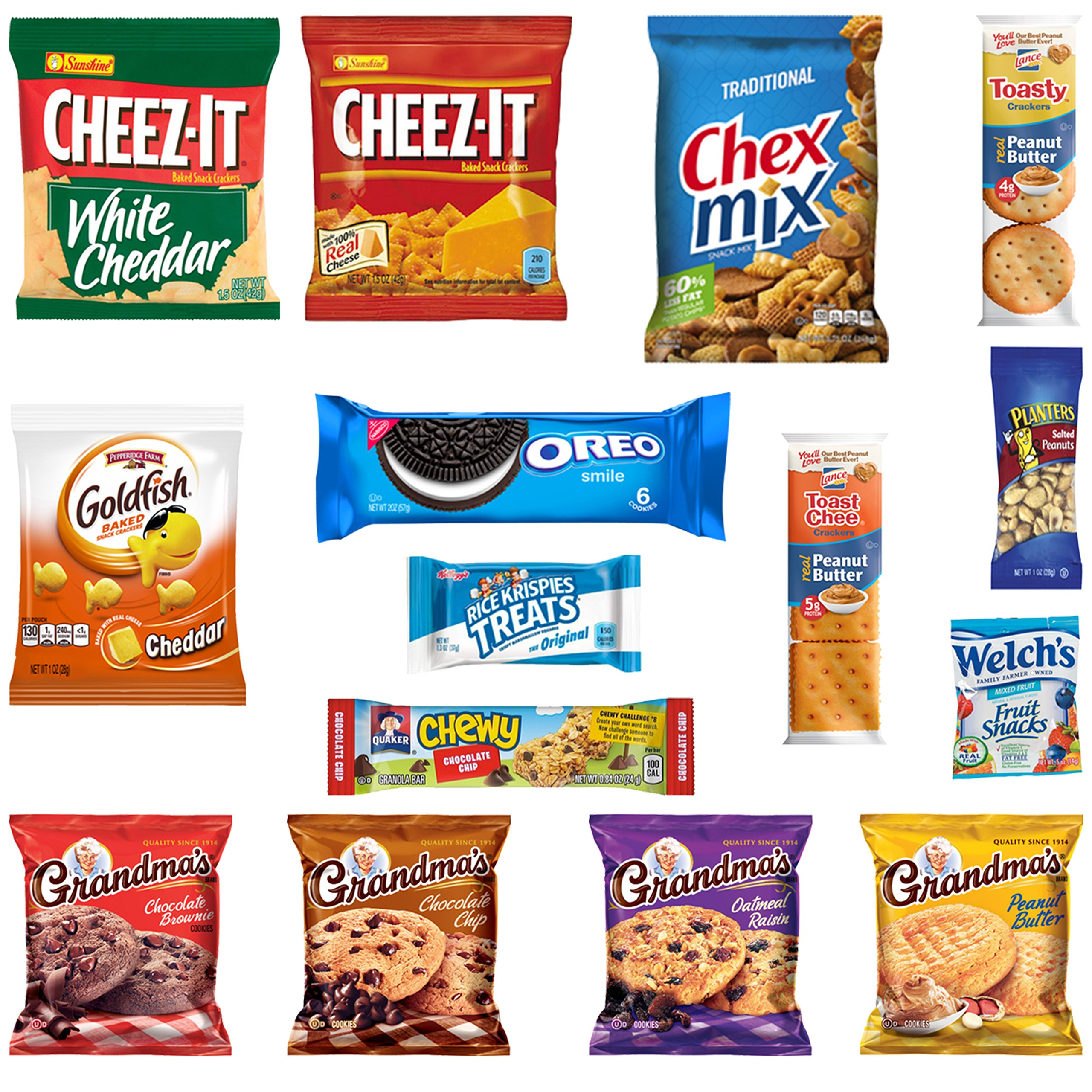 Healthy Snacks, Chips, Cookies, Crackers Mix Assortment Care Package Sampler (15 Count)