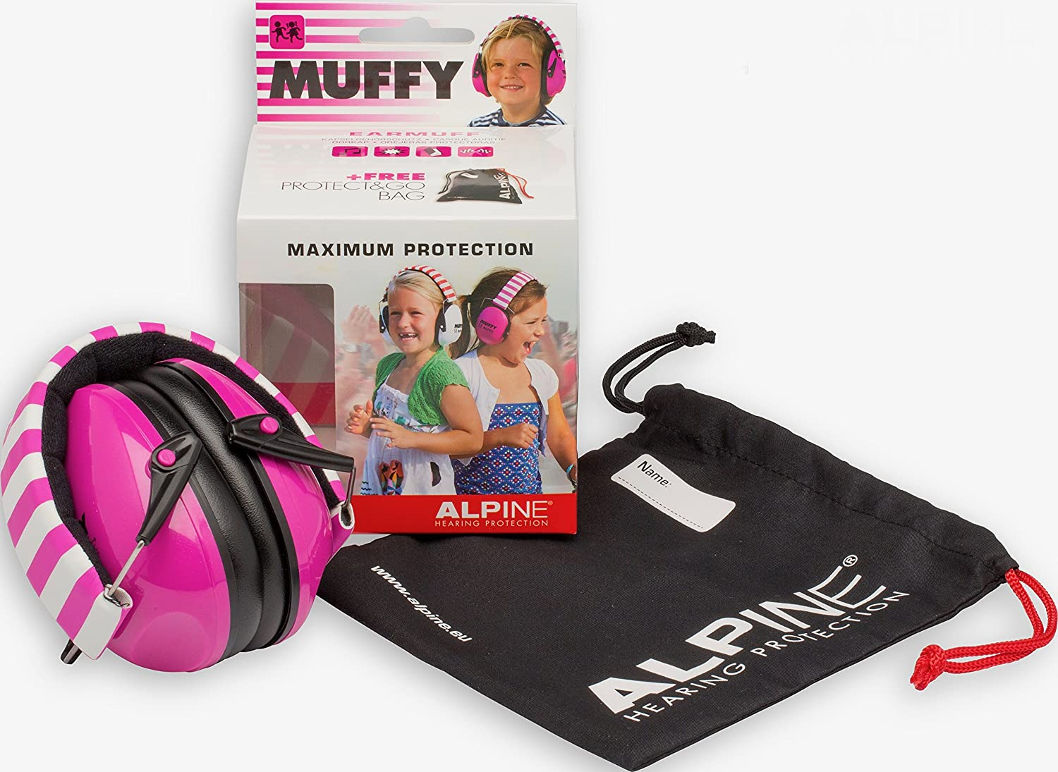 Ear Protectors for Kids Alpine Muffy Smile Ear Muffs Yellow Smiley Face