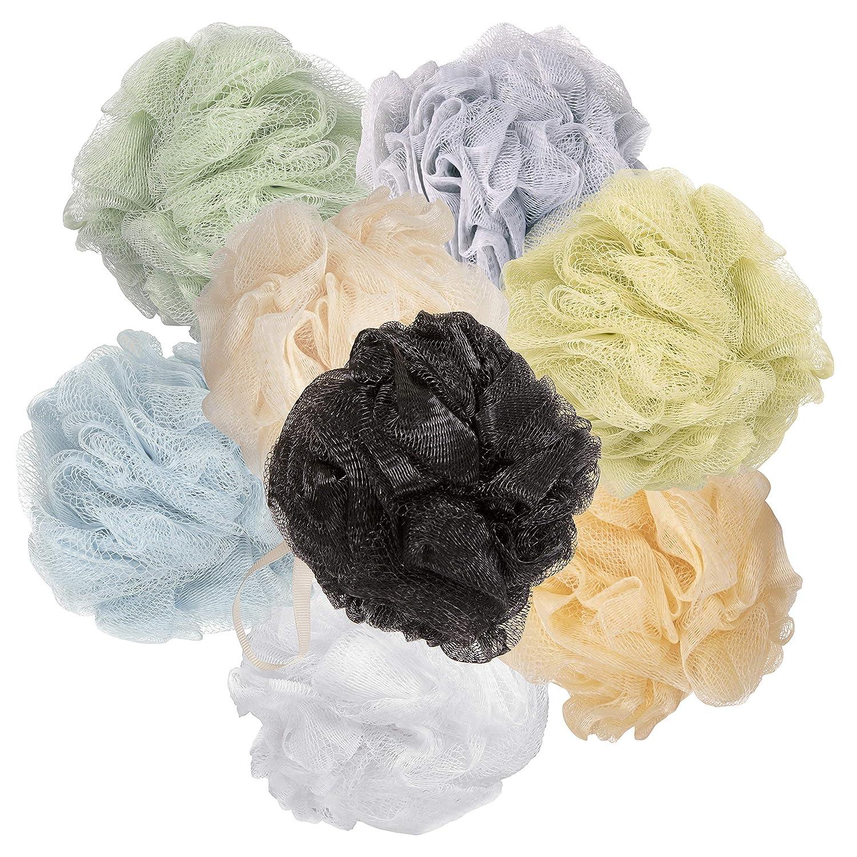 Loofah Mesh Bath Sponges, (8-Pack) Multi-Color Bath Loofah For Women Sponge Assortment; Drab Loofahs
