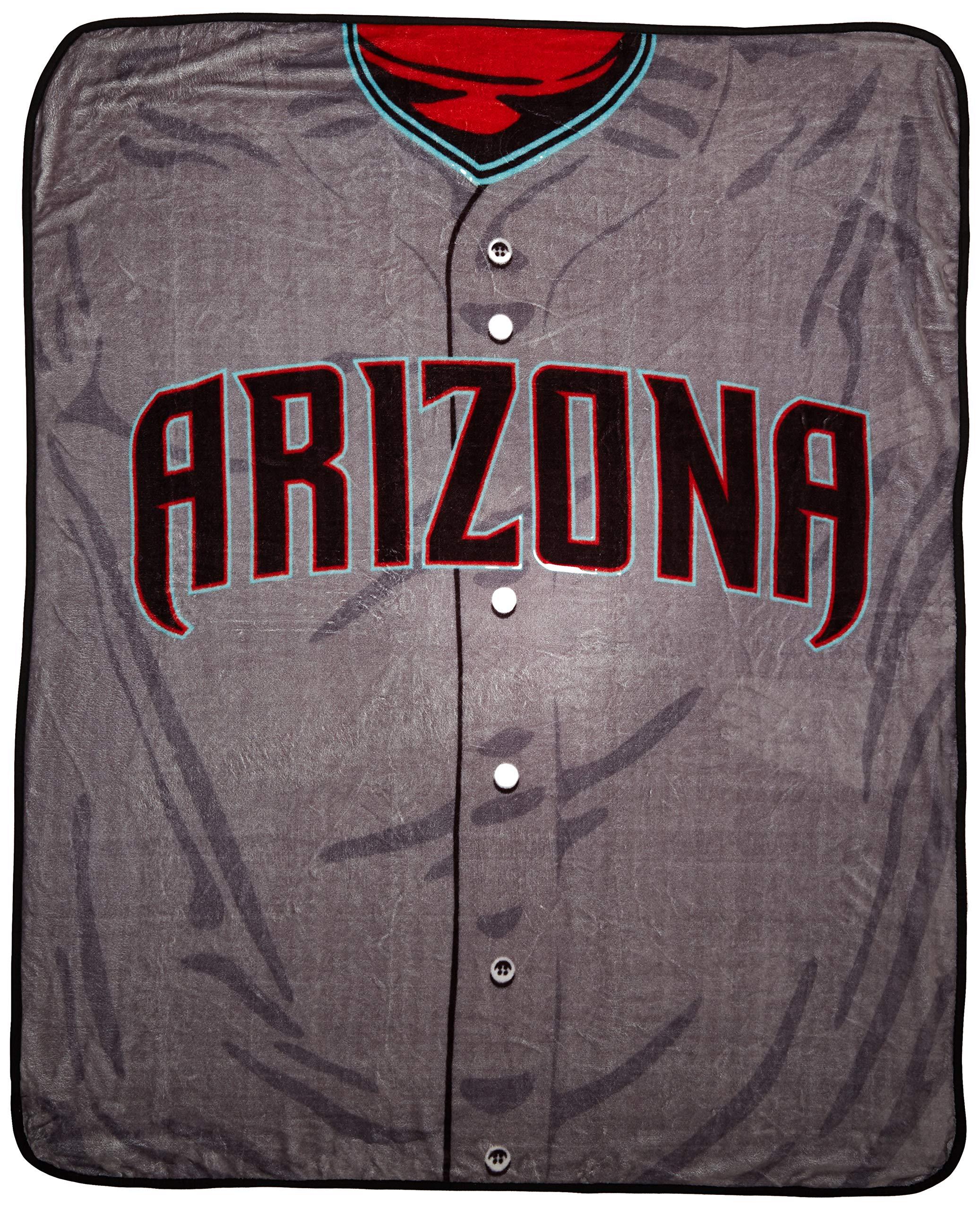 MLB Arizona Diamondbacks Jersey Plush Raschel Throw, 50'' x 60''