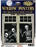"Forum Novelties Skeleton Window Posters (Set of 2), 30 x 48"", Black"