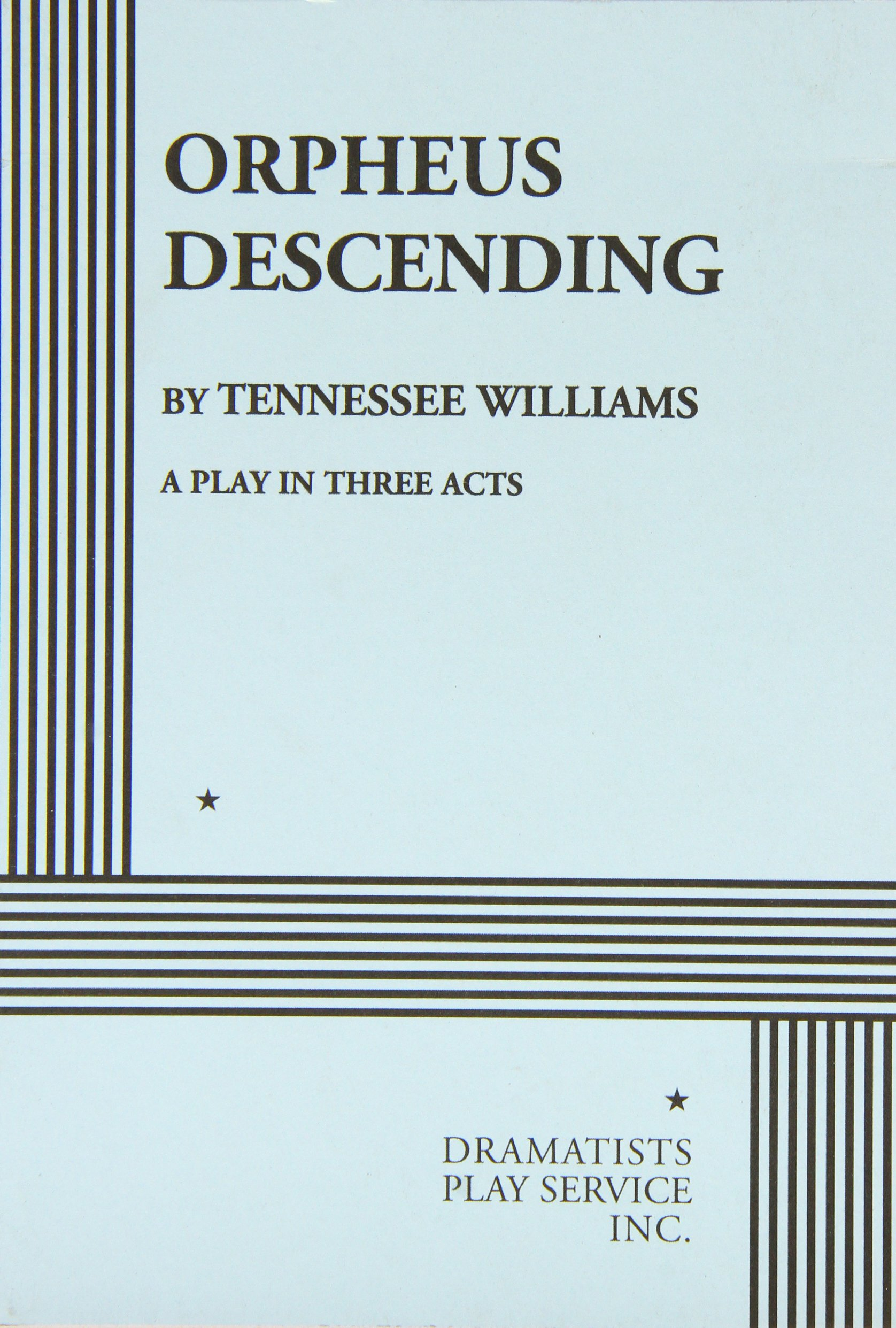 Orpheus Descending: Amazon.it: Williams, Tennessee: Libri in altre ...