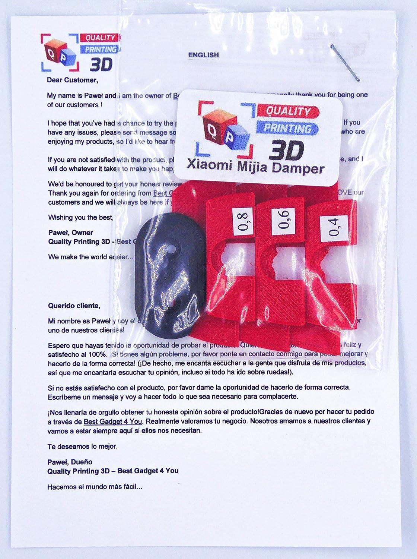 Amortiguador de vibración de Goma 3D, protección LED, Piezas de modificación para Xiaomi Mijia M365 M187 Scooter eléctrico, Rojo: Amazon.es: Deportes y aire ...