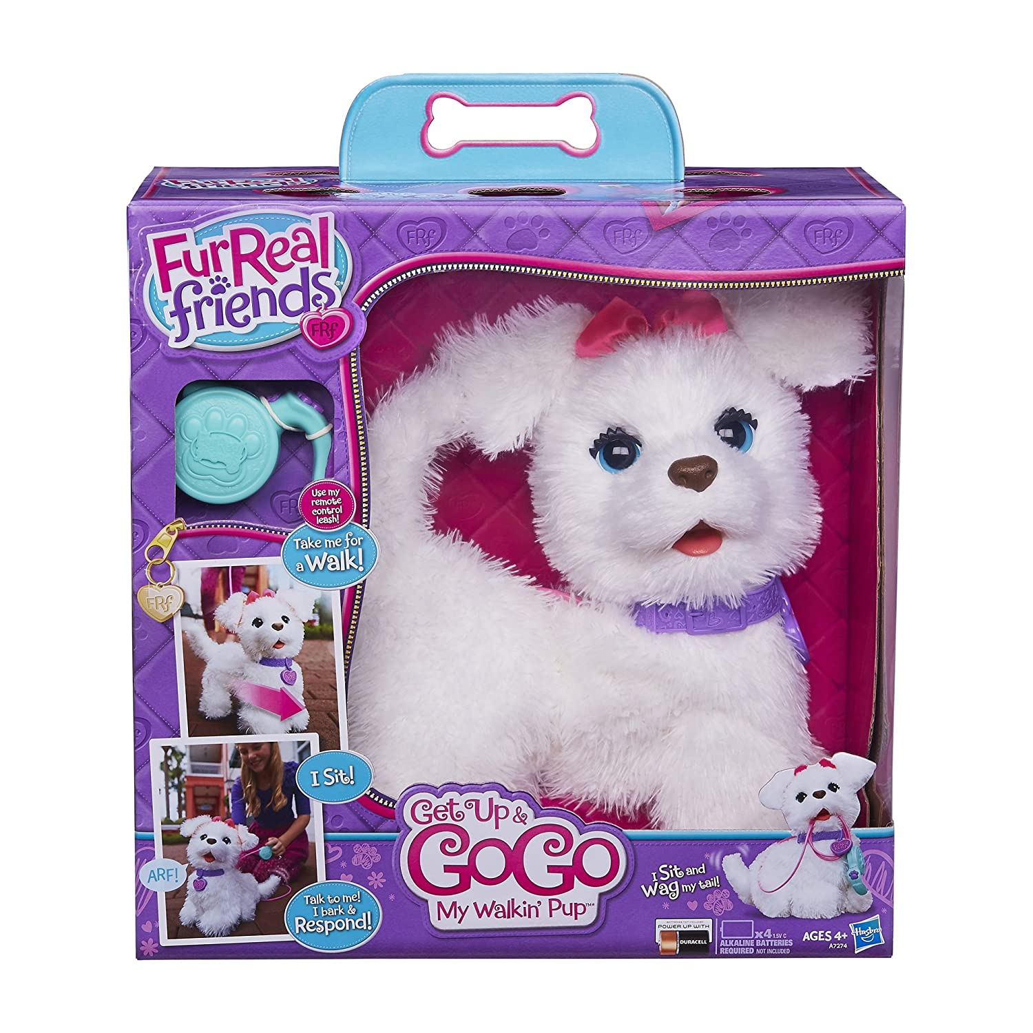 Furreal friends baby snow leopard flurry review robotic dog toys - Amazon Com Furreal Friends Get Up Gogo My Walkin Pup Pet Toys Games