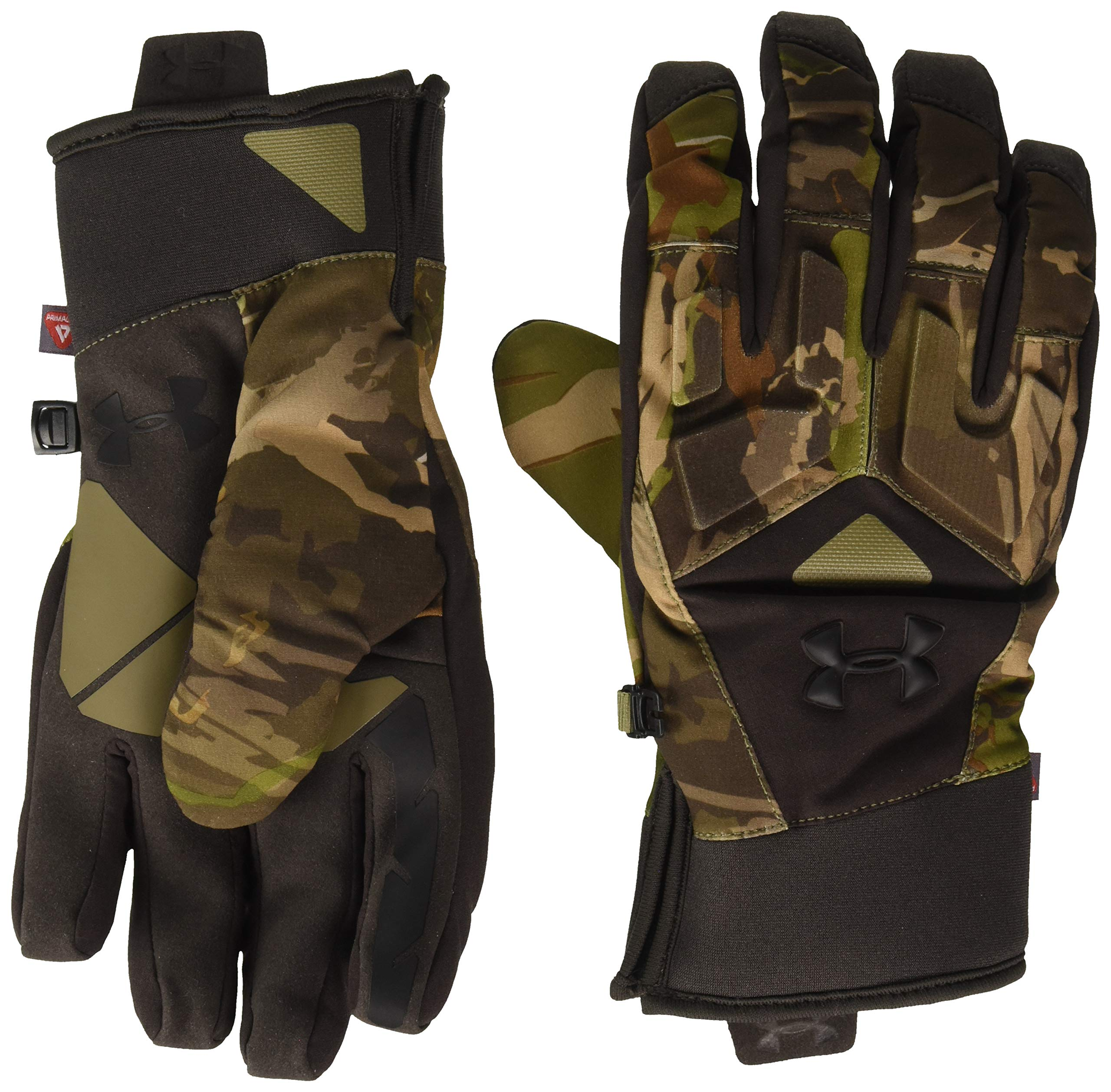 Under Armour Men`s ColdGear Infrared Scent Control 2.0 Primer Gloves (Realtree Ap Xtra(1301402-943)/Maverick Brown, Large) by Under Armour