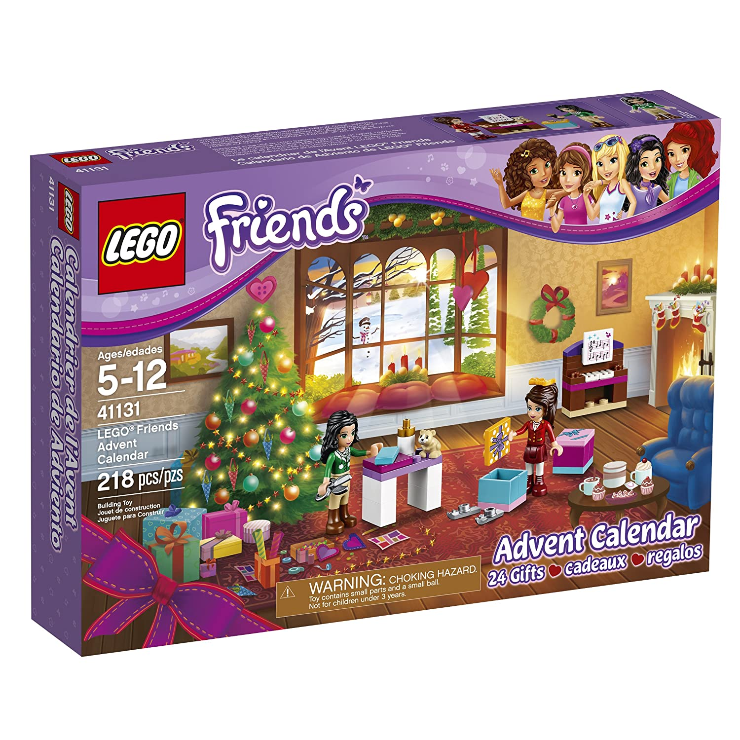 amazoncom lego friends 41131 advent calendar building kit 218 piece discontinued by manufacturer toys games
