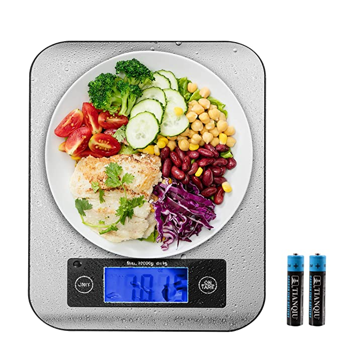 Food Scale, 22lb Kitchen Scale, Large Surface, g/oz/lb: oz/ml, Food Grade 304 Stainless Steel, Safe for Cooking/Baking