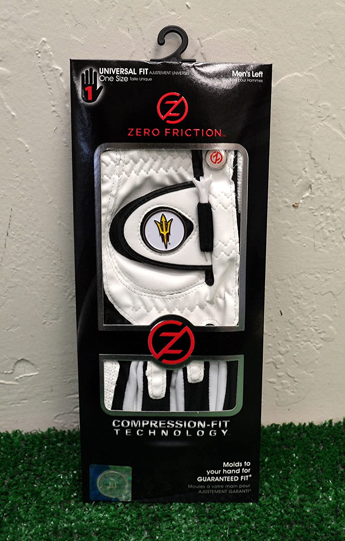 Zero FrictionメンズLeft Handユニバーサルゴルフグローブ – Arizona State Sun Devils ( ASU ) – ホワイト   B077Y5HMVW