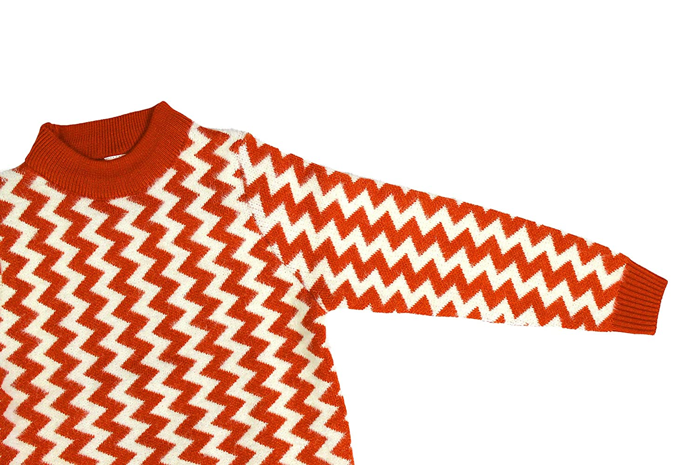 Bienzoe Little Boys Long Sleeve Crew Neck Wave Pattern Pullover Sweater