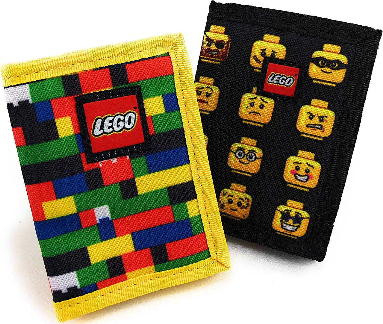LEGO Schylling Kids Brick Wallet & Minifigures Wallet Gift Set Bundle - 2 Pack
